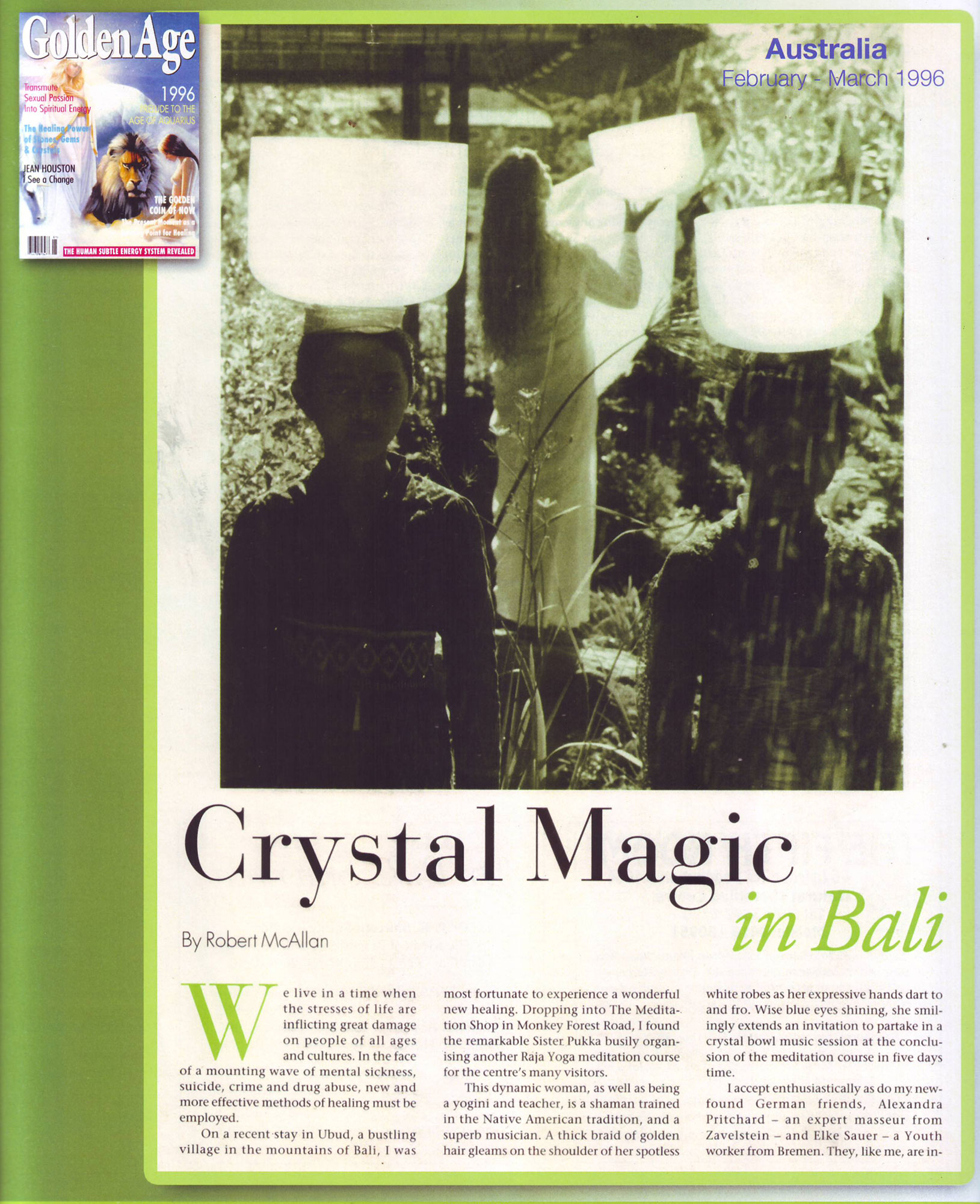 Crystal Magic in Bali. Crystal Sound Institute by AwaHoshi Kavan