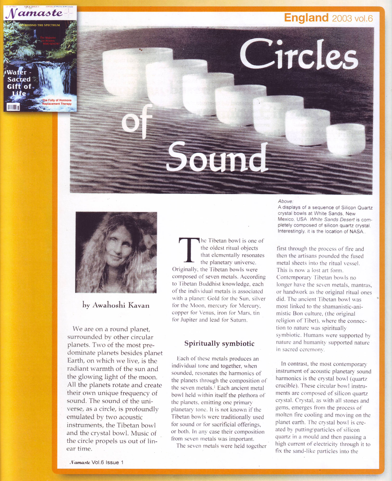 Circles of Sound article Crystal Sound Institute by AwaHoshi Kavan