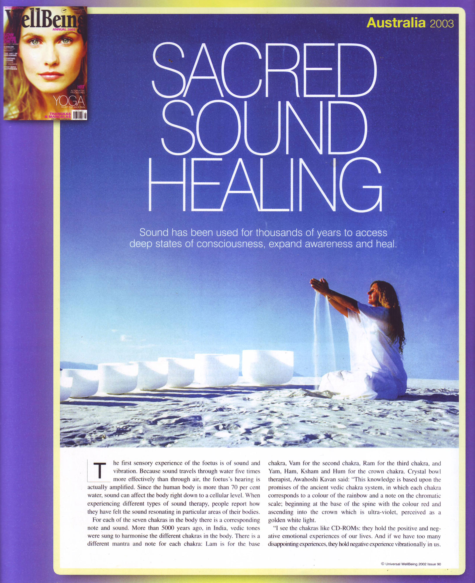 Sacred Sound Healing Well Being Crystal Sound Institute by AwaHoshi Kavan